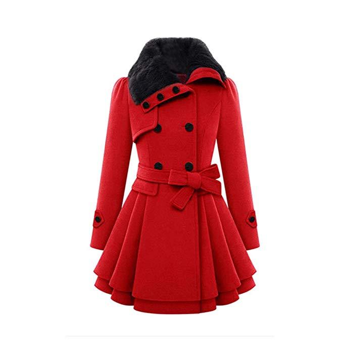 abrigo vingtage rojo