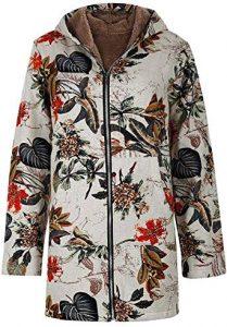 abrigo vintage estampado
