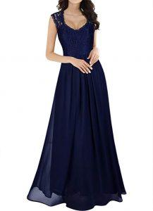 vestido vintage miusol chiffon largo