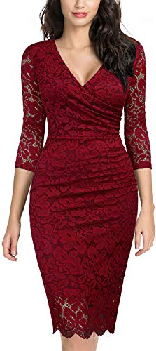 miusol vestido de encaje rojo